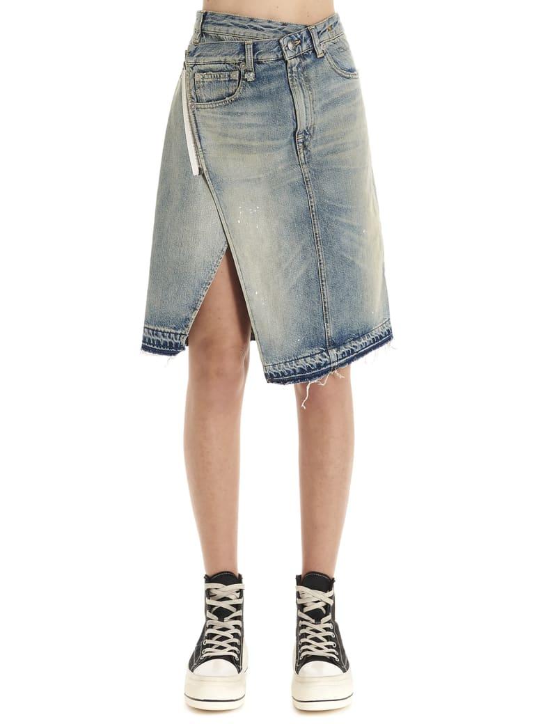 R13 'kira' Skirt - Light blue