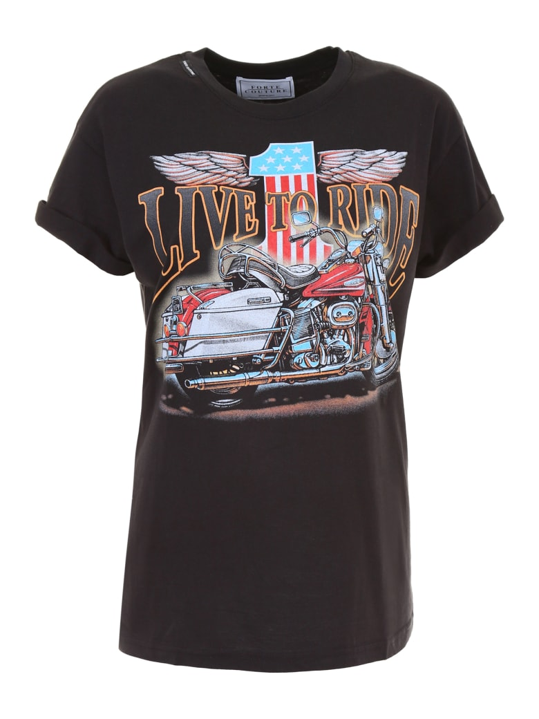 Forte Couture Live To Ride T-shirt - BLACK (Black)