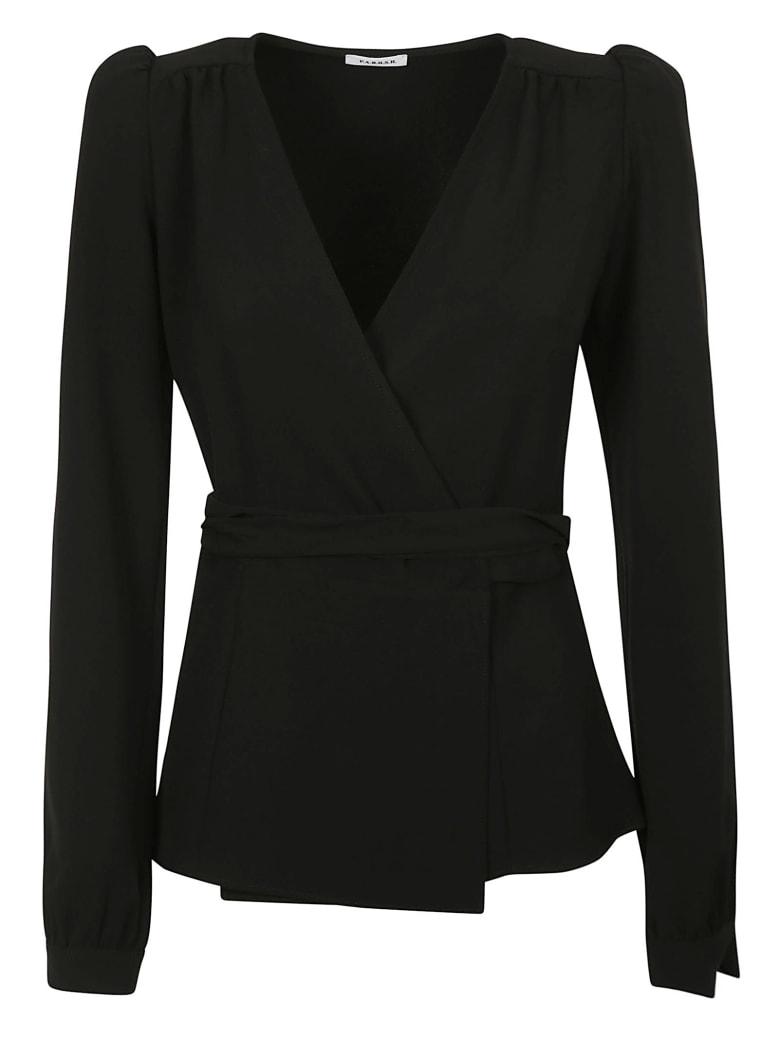Parosh Tie Waist Blouse - Black