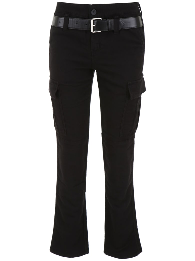 RTA Belted Cargo Trousers - JET BLACK (Black)