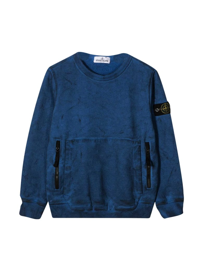 Stone Island Junior Blue Sweatshirt - Pervinca