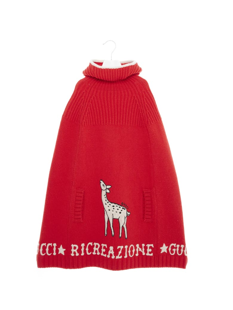Gucci 'bambi' Poncho - Red