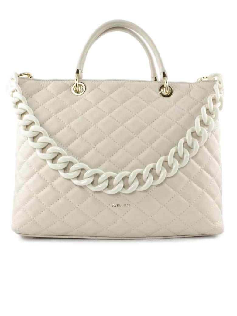 Avenue 67 Violante Bag In White Leather - Panna