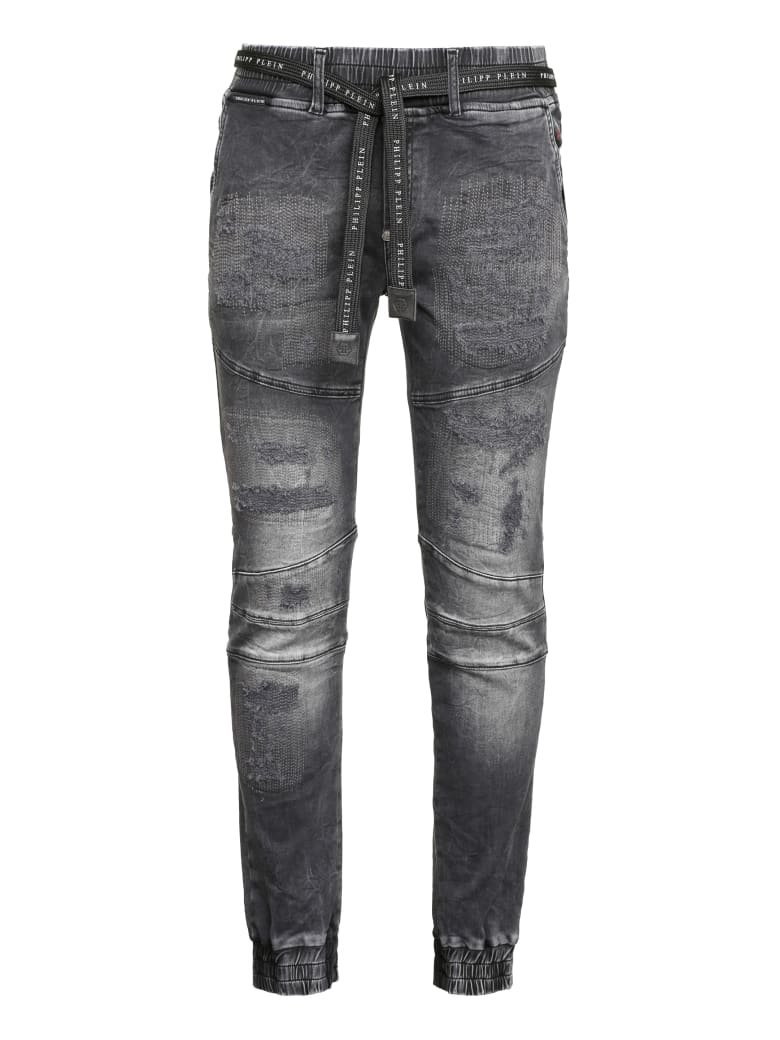 Philipp Plein Denim Jogging Pants - grey