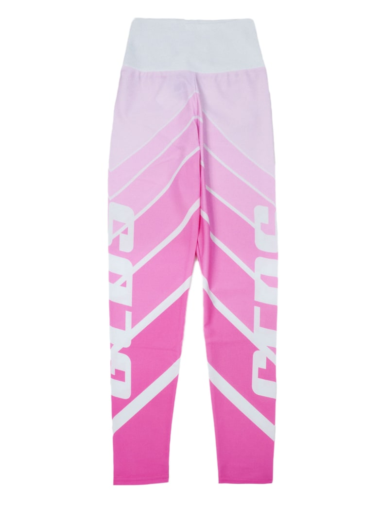 GCDS White And Pink Leggings - Rosa