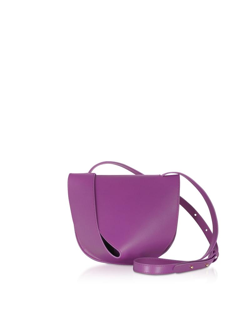 Giaquinto Candy Saddle Orchid-egret Shoulder Bag - Orchid
