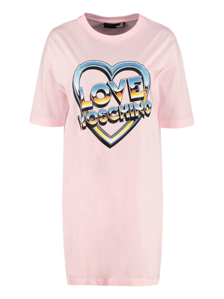 Love Moschino Cotton Mini-dress - Pink