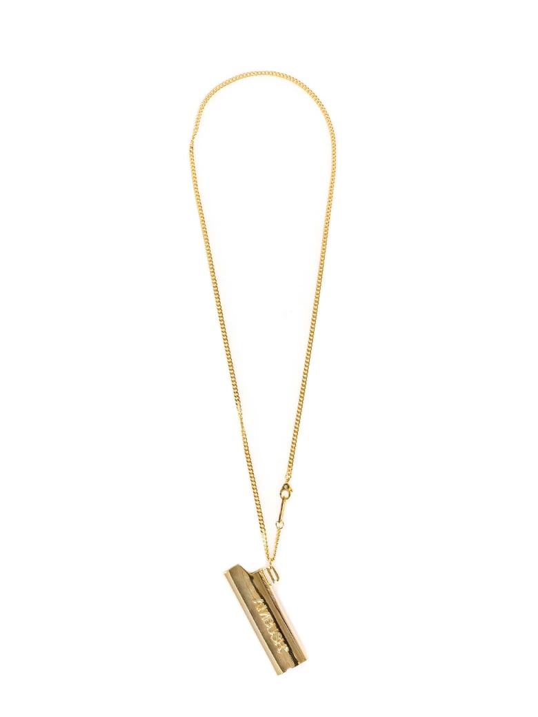 AMBUSH Logo Lighter Case Necklace - Oro