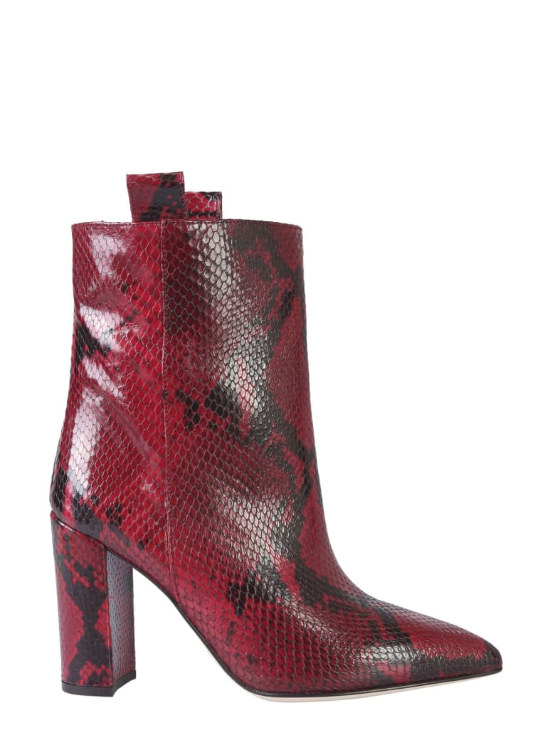 Paris Texas Leather Boot - ROSSO