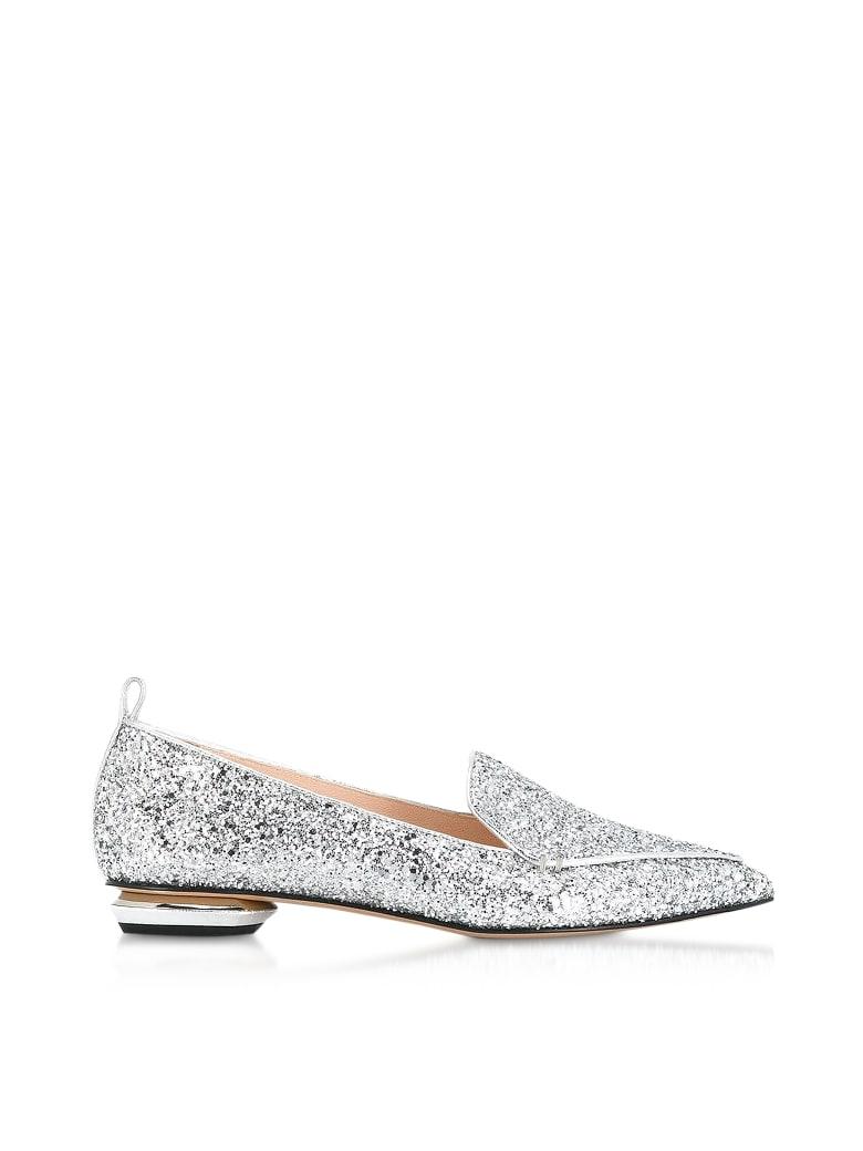 Nicholas Kirkwood Chunky Glitter 18mm Beya Loafer - Silver