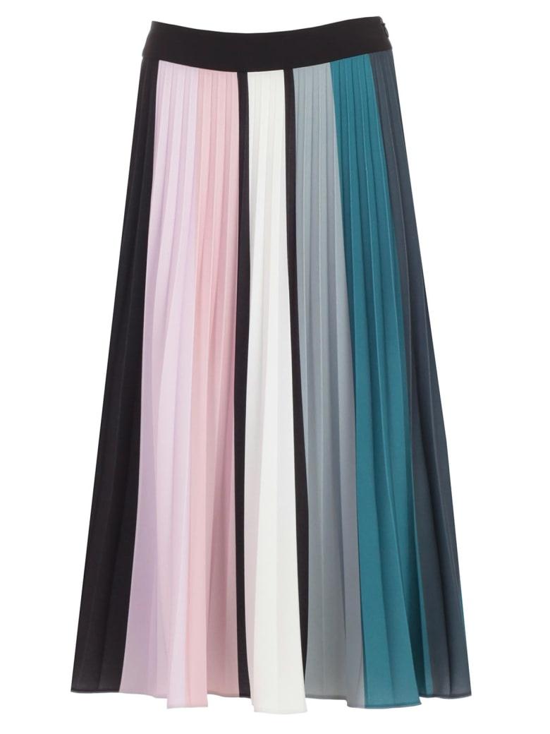 SSHEENA Skirt Plisse W/slts - Light Blue