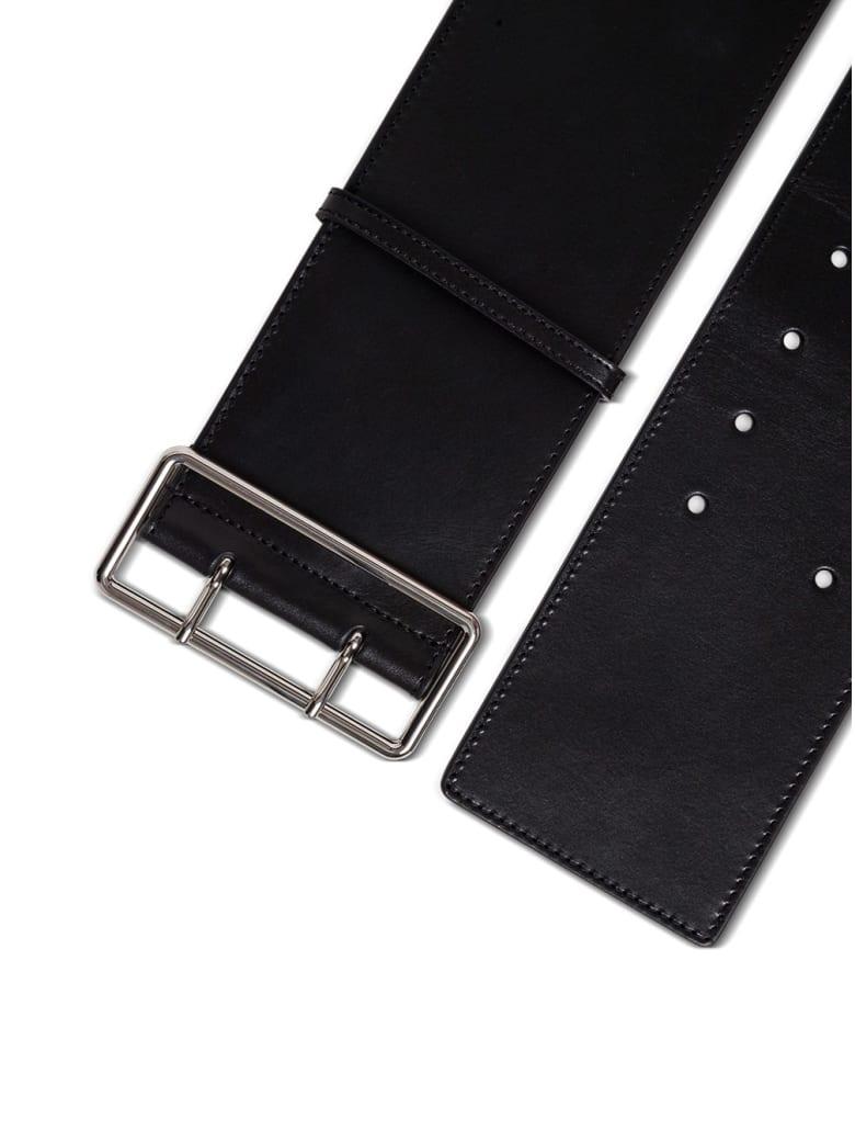 Alexander McQueen Military Belt In Black Leather - Black