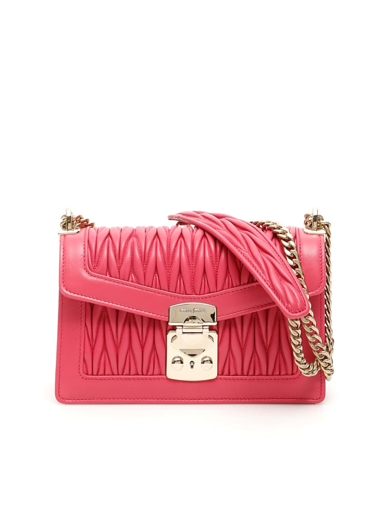 Miu Miu Medium Miu Confidential Shoulder Bag - MAGENTA (Fuchsia)