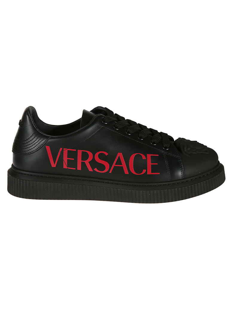 Versace Logo Sneakers - black