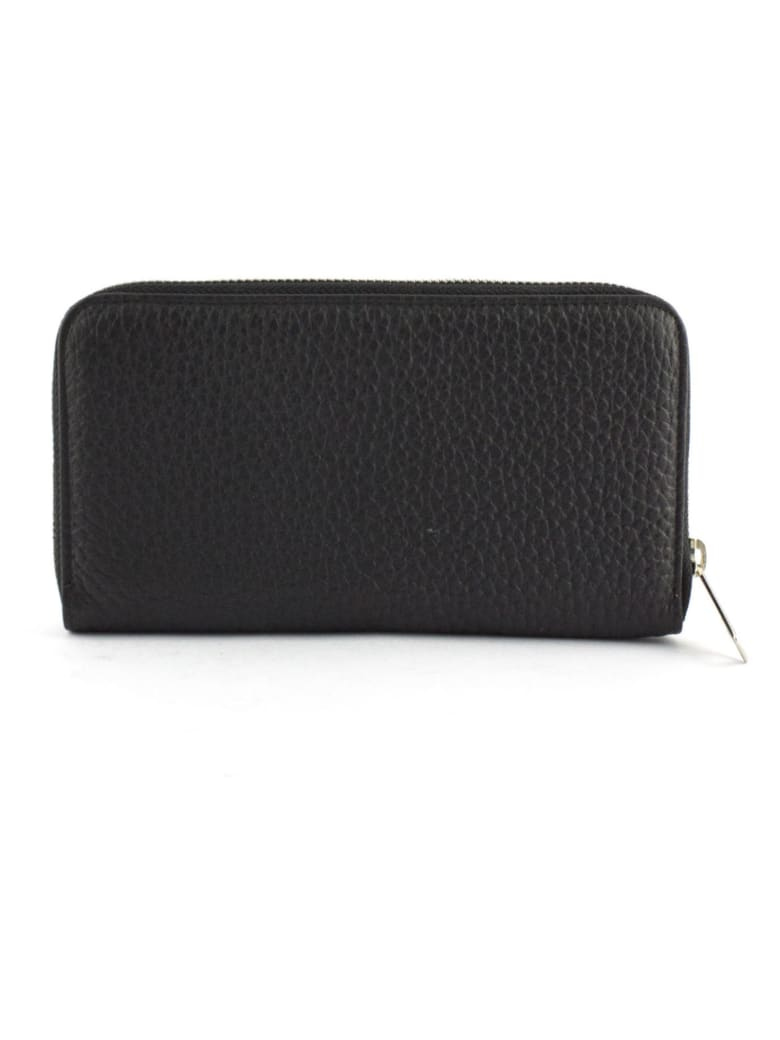 Orciani Black Leather Wallet - Nero