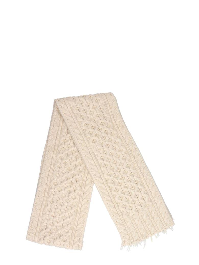 Alanui Scarve In White Cashmere - white