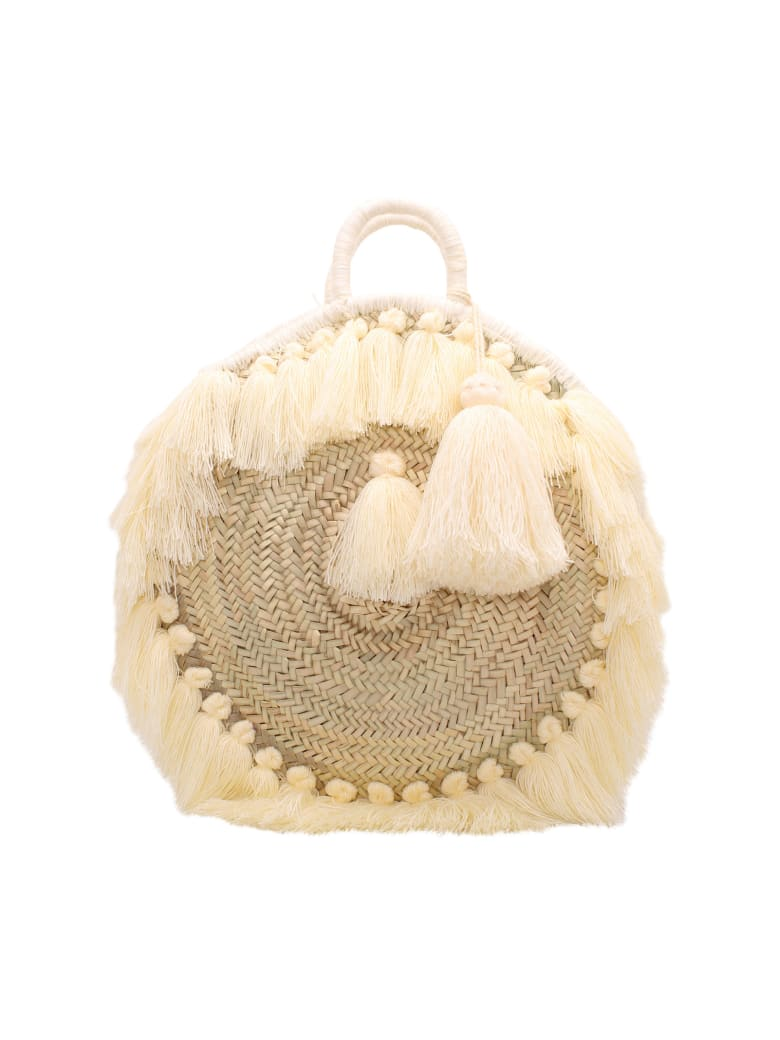 Gianluca Capannolo Straw Tote Bag - White