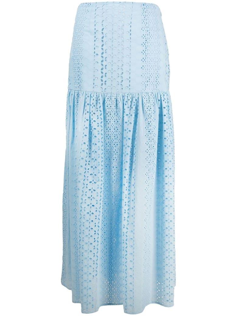 Federica Tosi Sangallo Ligh Blue Long Skirt - Celeste