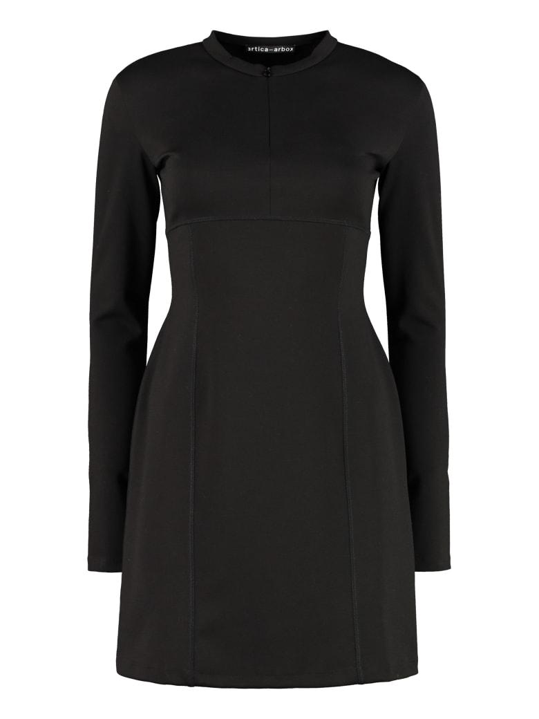 Artica Arbox Jersey Sheath Dress - black