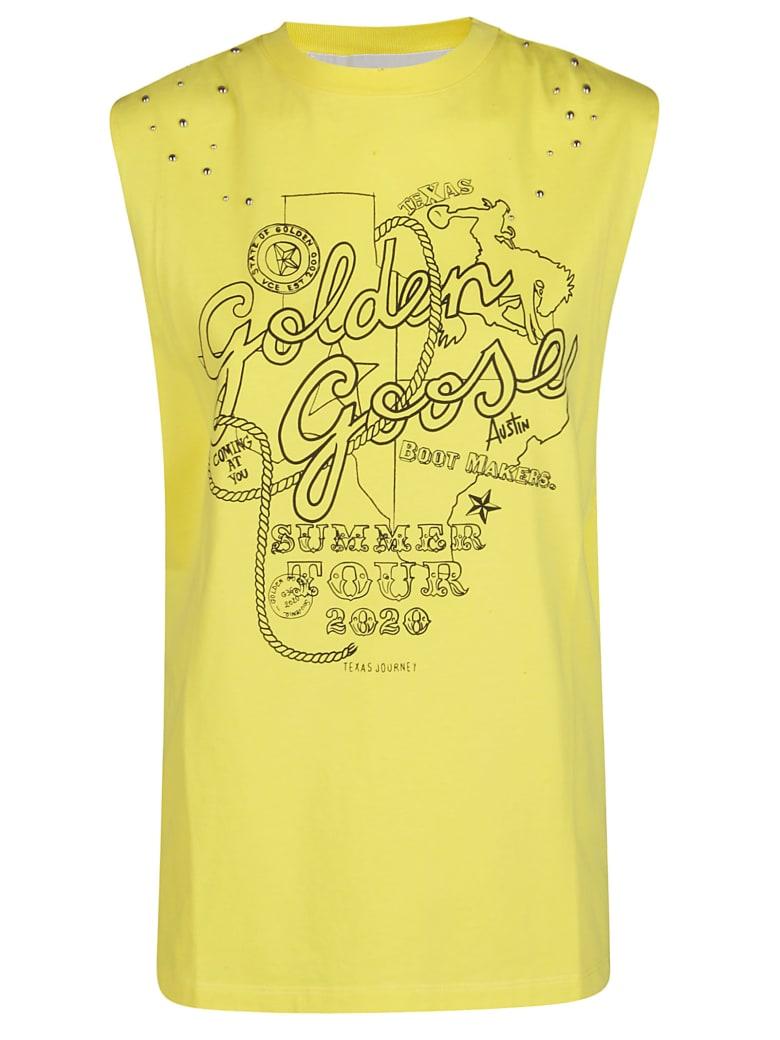Golden Goose Logo Tank Top - Yellow