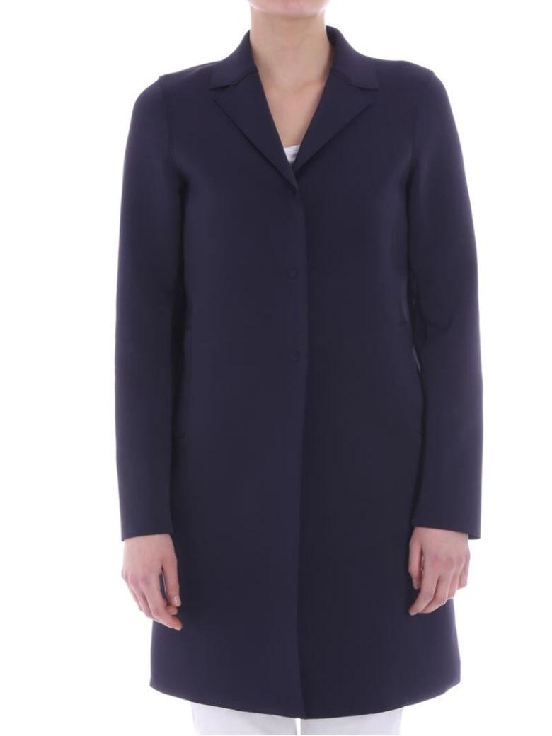 Harris Wharf London - Neoprene Overcoat - Black