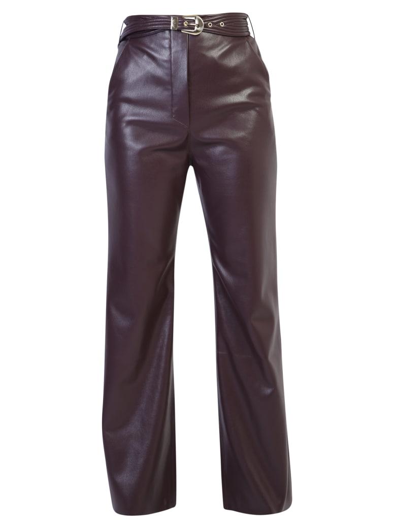 Nanushka Faux Leather Trousers - Bordeaux