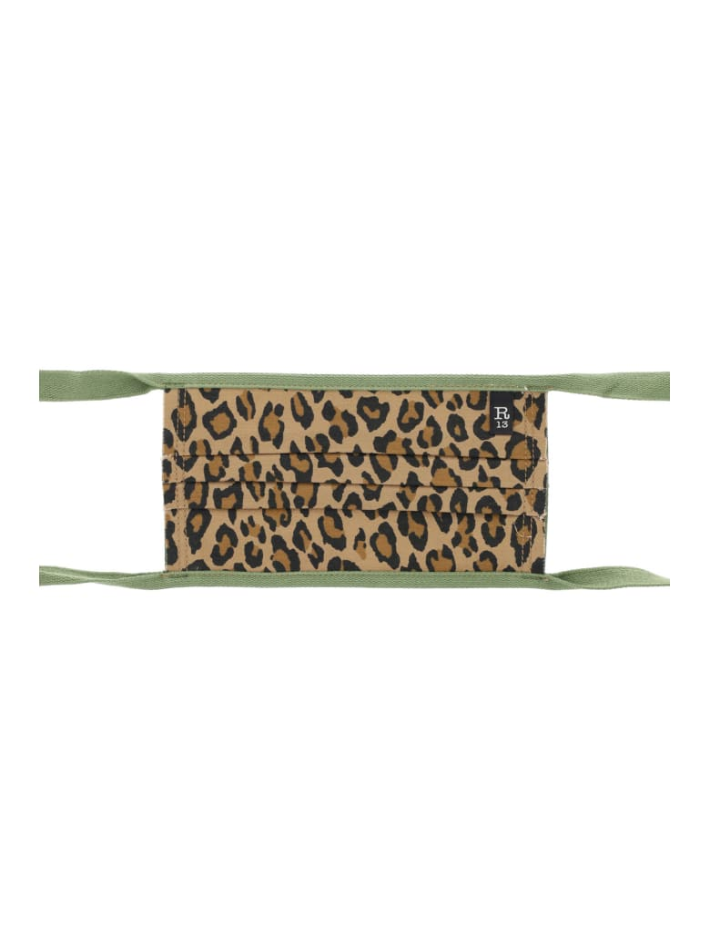 R13 Leopard Print Mask - LEOPARD (Brown)