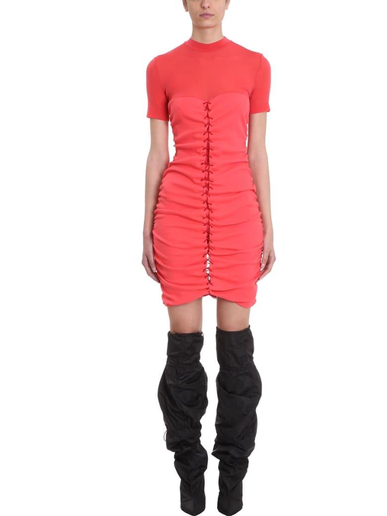 Ben Taverniti Unravel Project Elacot Lace-front Hybrid Dress - red
