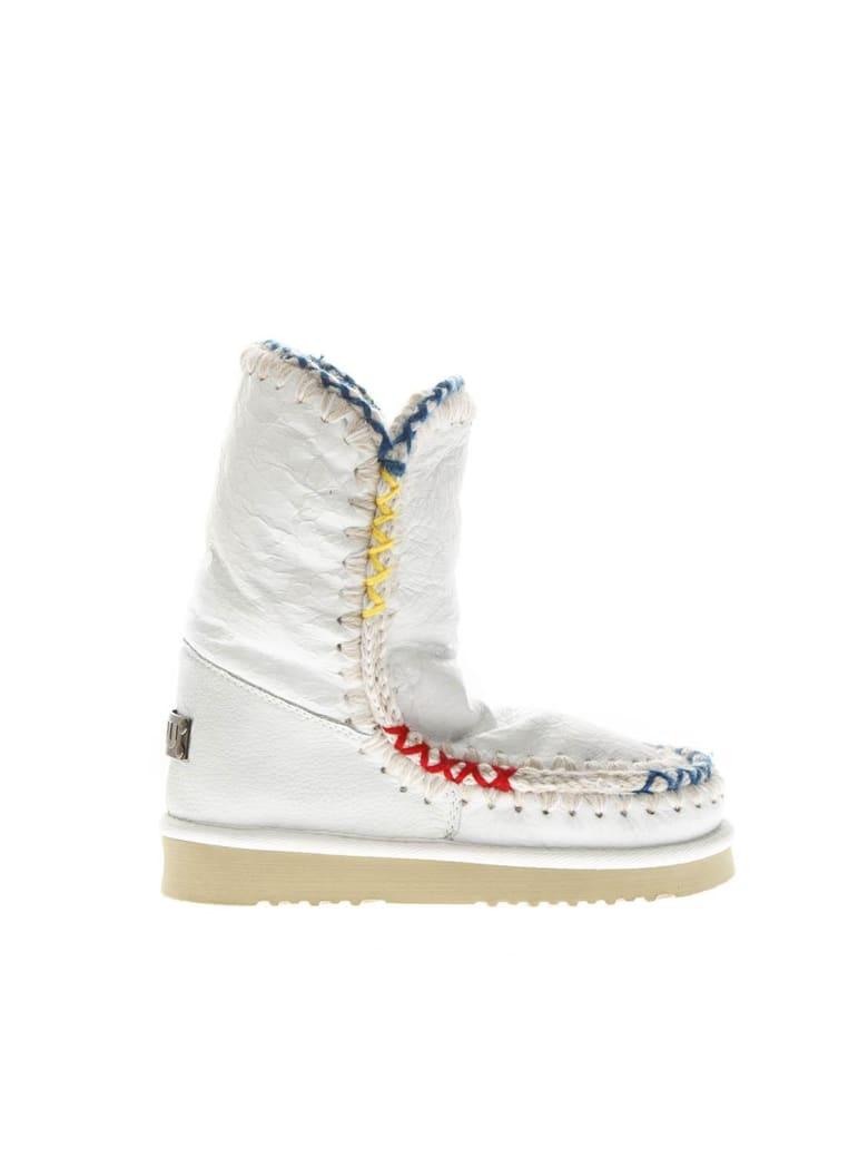 Mou White Eskimo Shearling Boots - White