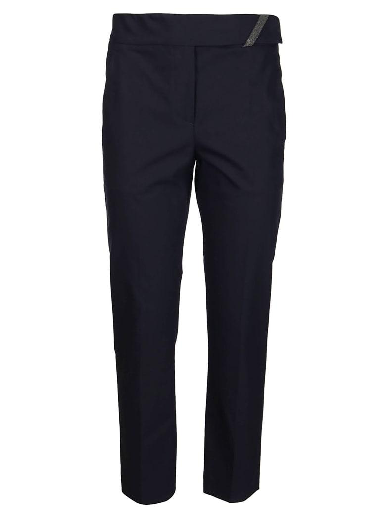 Brunello Cucinelli Blue Cotton Trousers - Blue