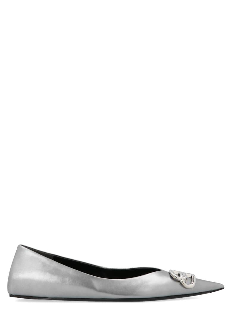 Balenciaga 'square Knife' Shoes - Silver