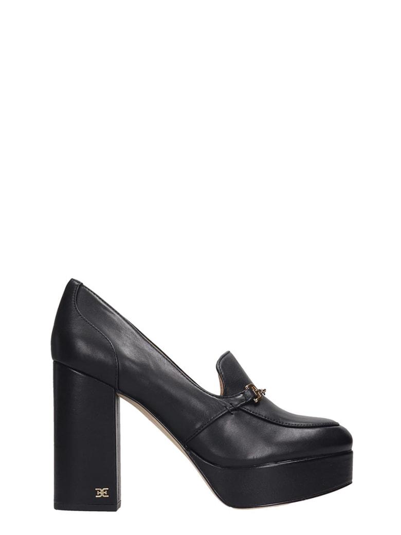 Sam Edelman Aretha Pumps In Black Leather - black