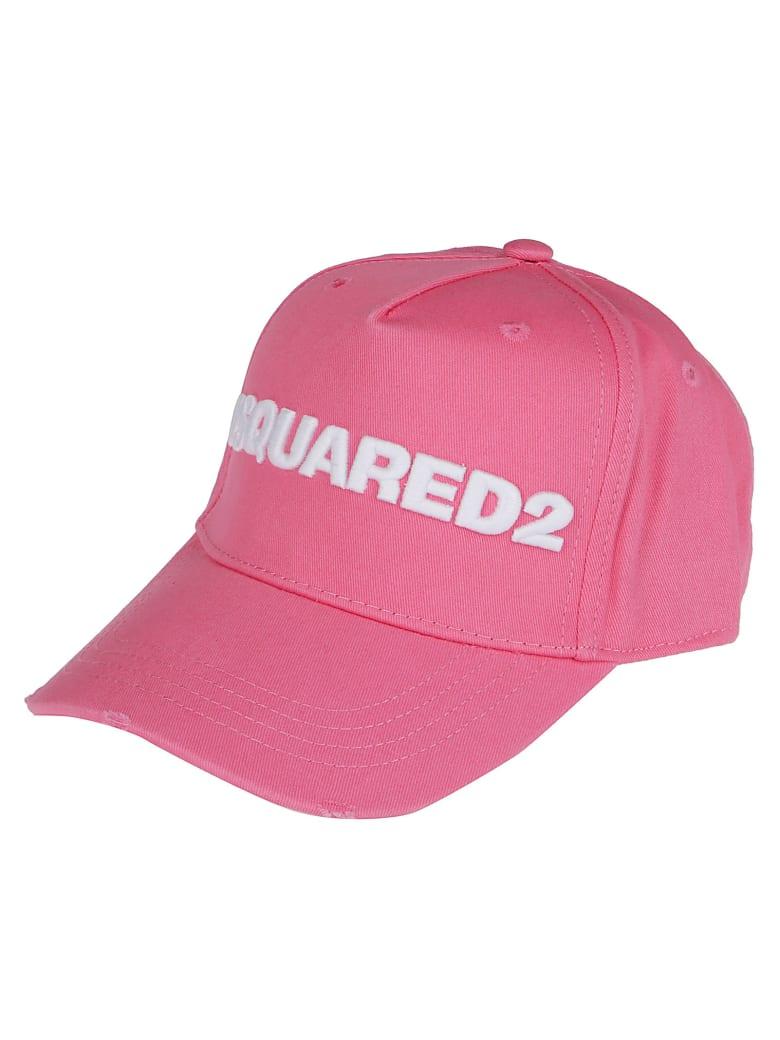 Dsquared2 Pink Cotton Baseball Cap - PINK white