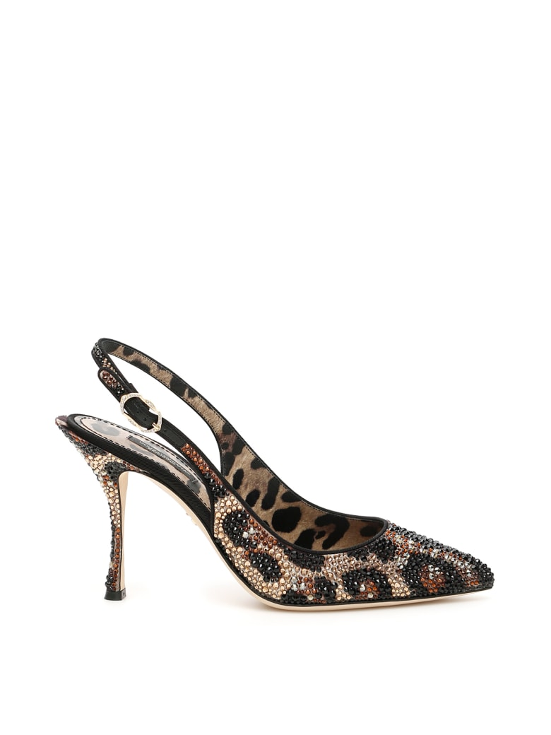 Dolce & Gabbana Lori 90 Slingbacks - LEOPARD (Brown)