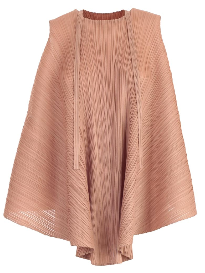 Pleats Please Issey Miyake Top W/s A Line - Warm Beige