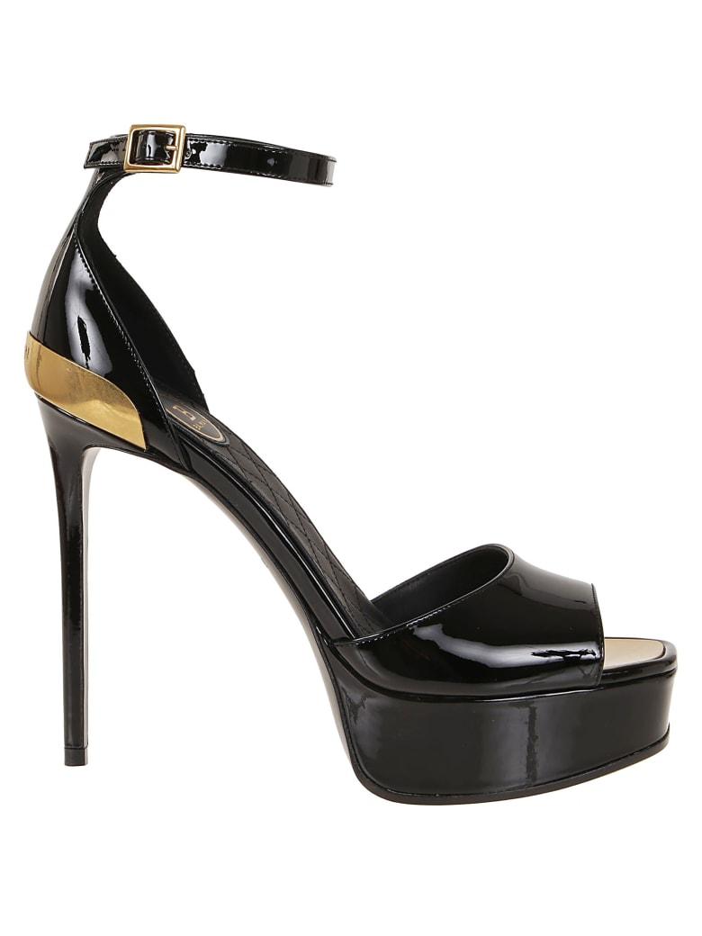 Balmain Sandal Pippa-calfskin Leather - Pa Noir