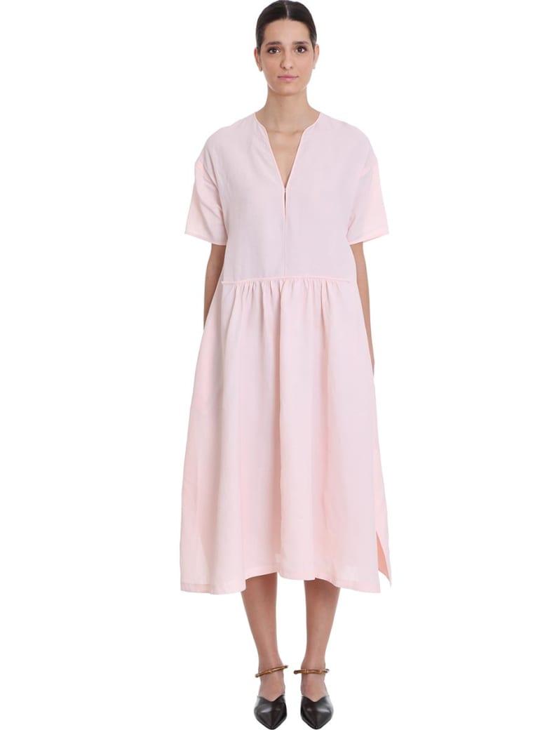 Jil Sander Marabela F Dress In Rose-pink Viscose - rose-pink