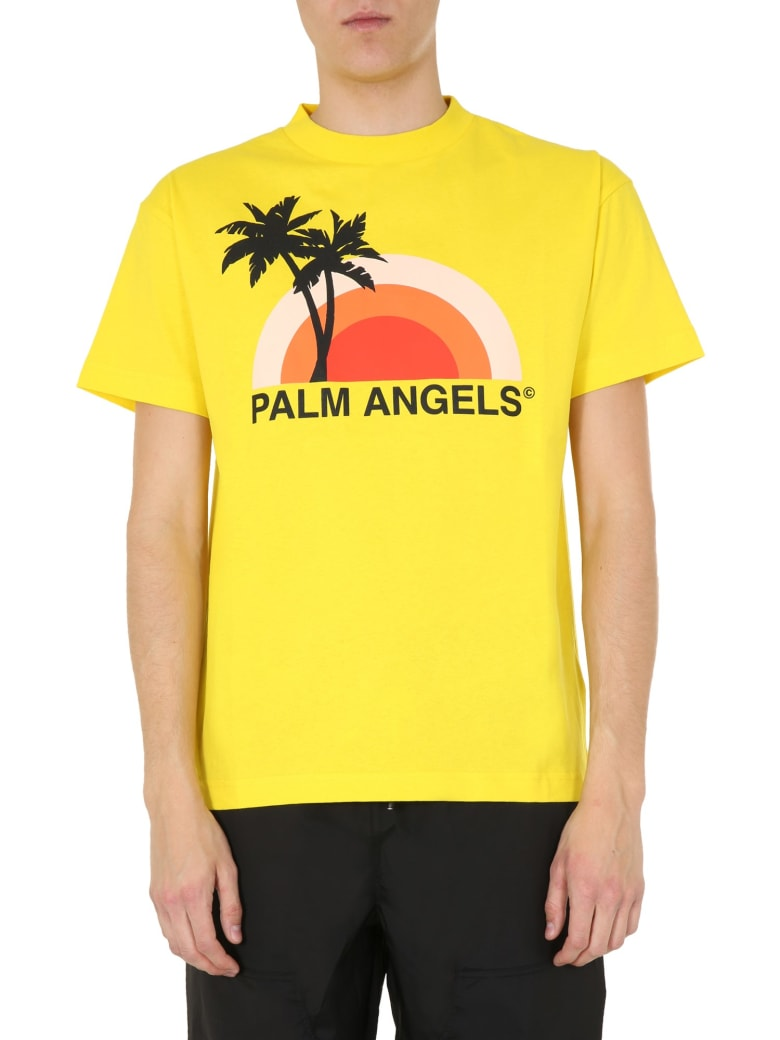 Palm Angels Round Neck T-shirt - GIALLO