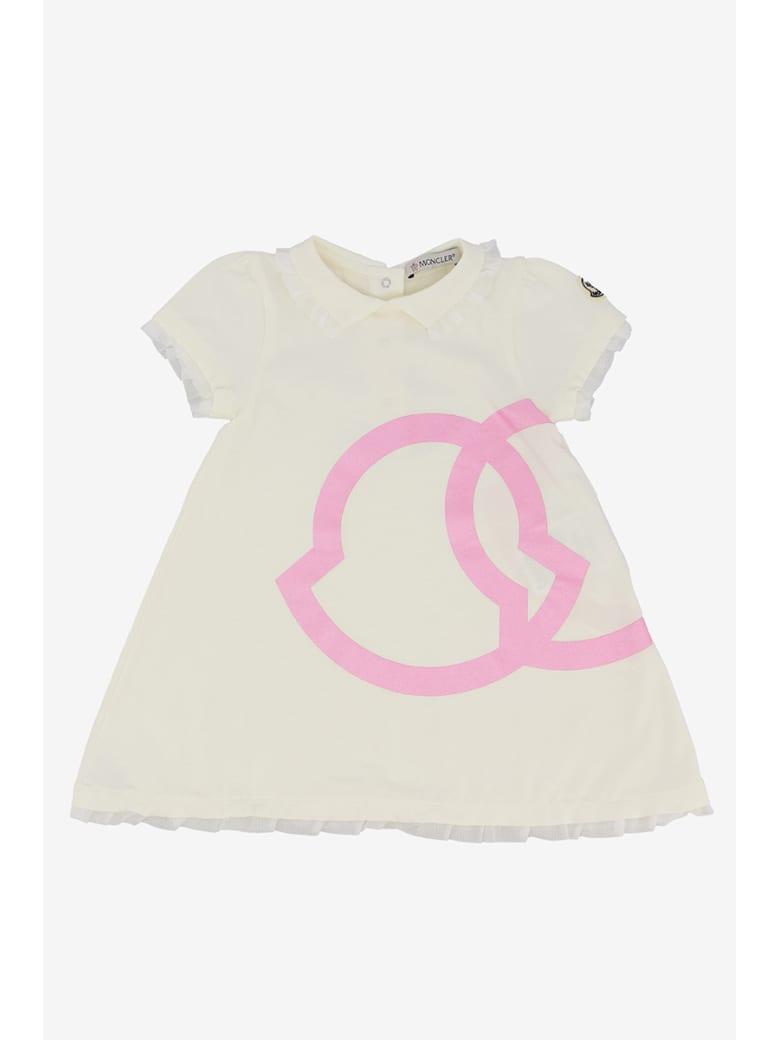 Moncler Printed Logo Dress - Bianco