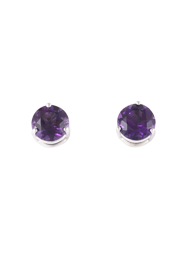 Lo Spazio Jewelry Lo Spazio Amethyst Earrings - Purple