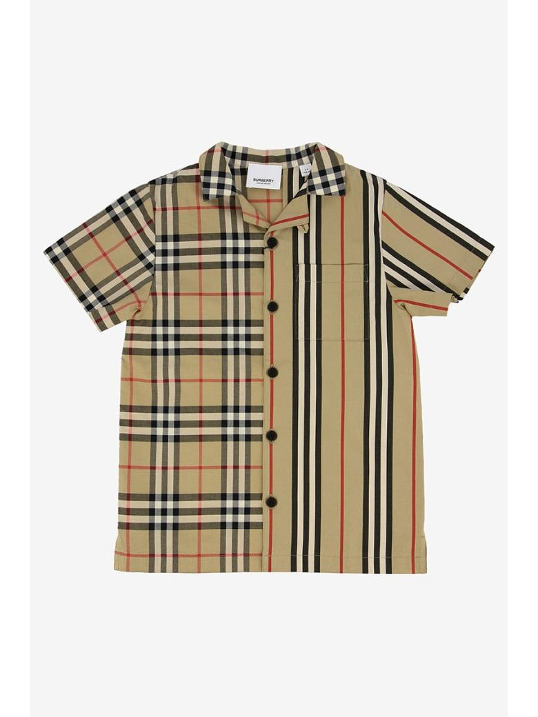 Burberry Double Pattern Shirt - Beige