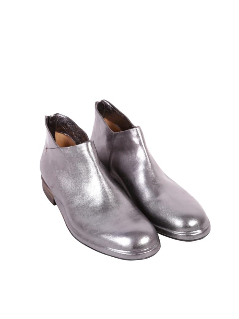 Roberto del Carlo Del Carlo Leather Ankle Boots - ANTRACITE