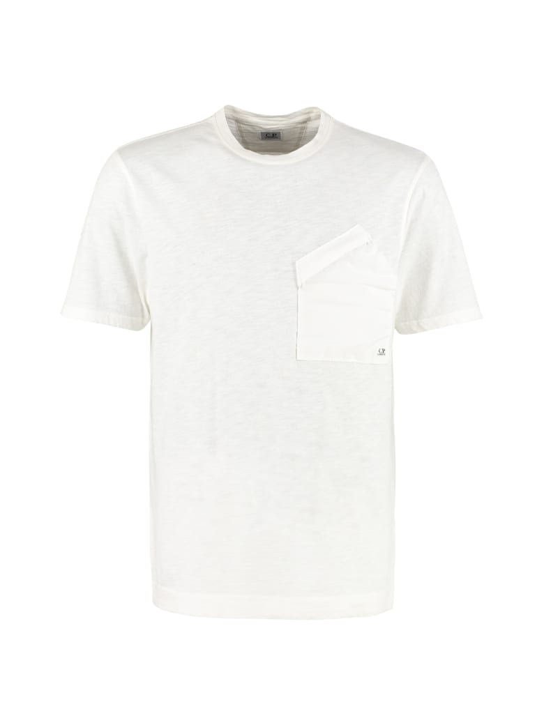 C.P. Company Cotton T-shirt With Chest Pocket - White
