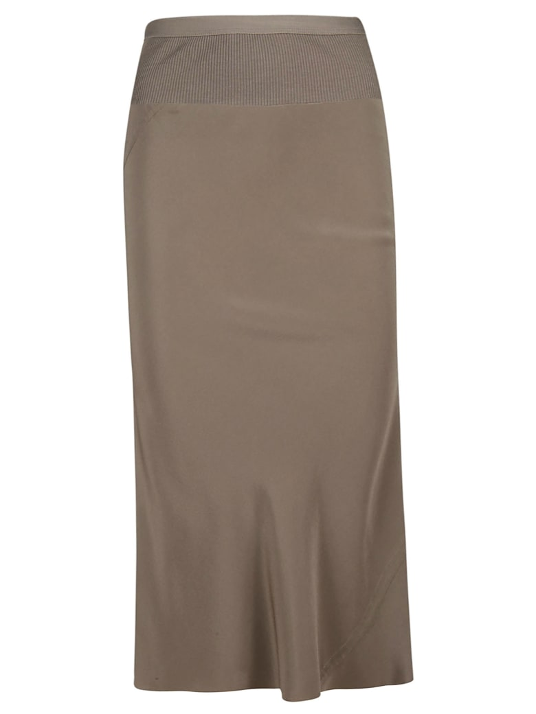 Rick Owens Slim Fit Pencil Skirt - powder