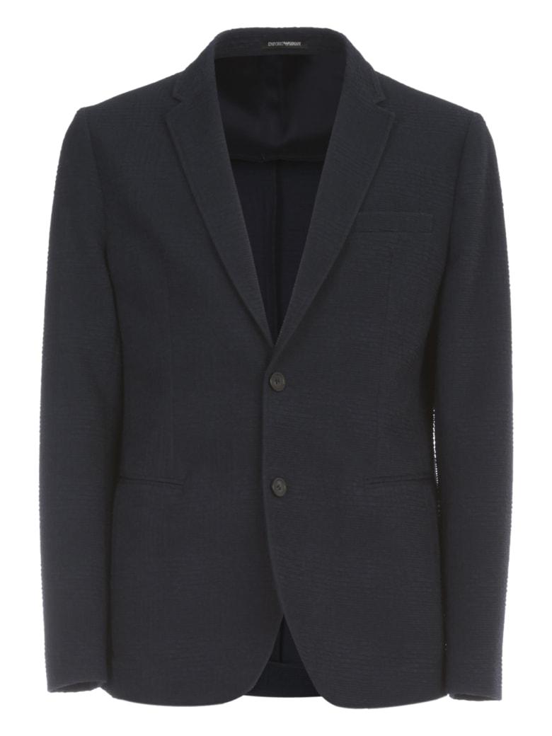 Emporio Armani Embossed Jacket Icon - Blu