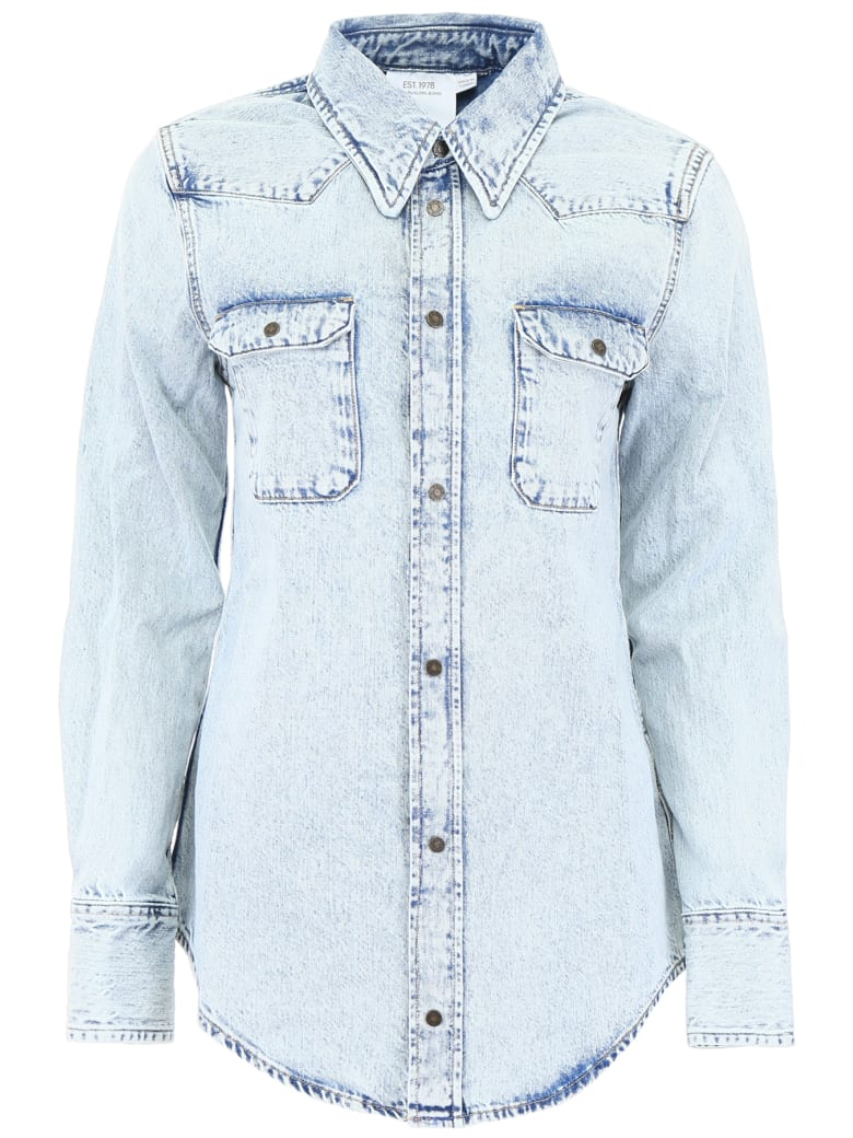Calvin Klein Denim Western Shirt - ACID LIGHT INDIGO (Light blue)