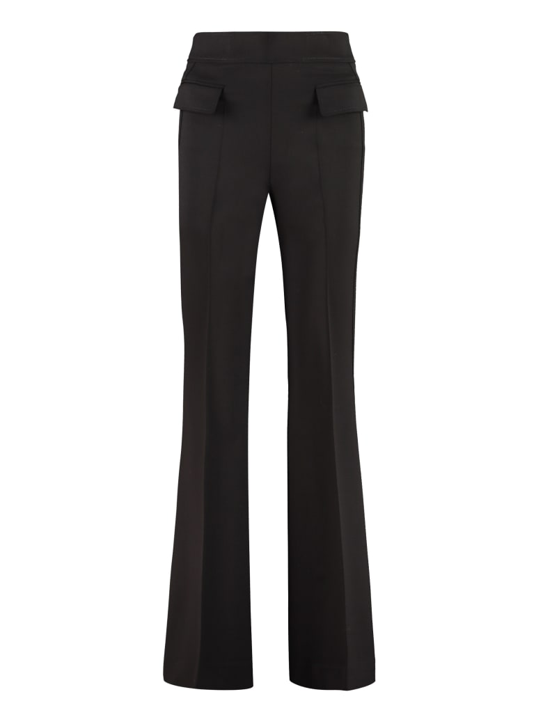 Parosh Liliuxy Flared Wool Trousers - black