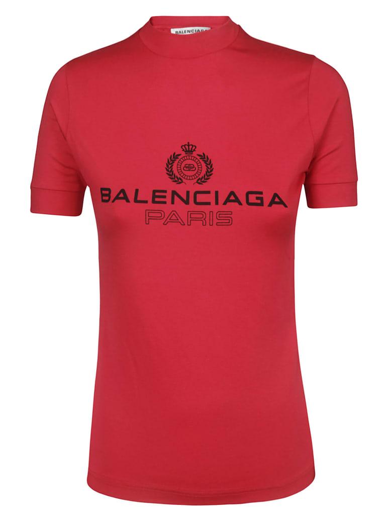 Balenciaga Logo Print T-shirt - Strawberry