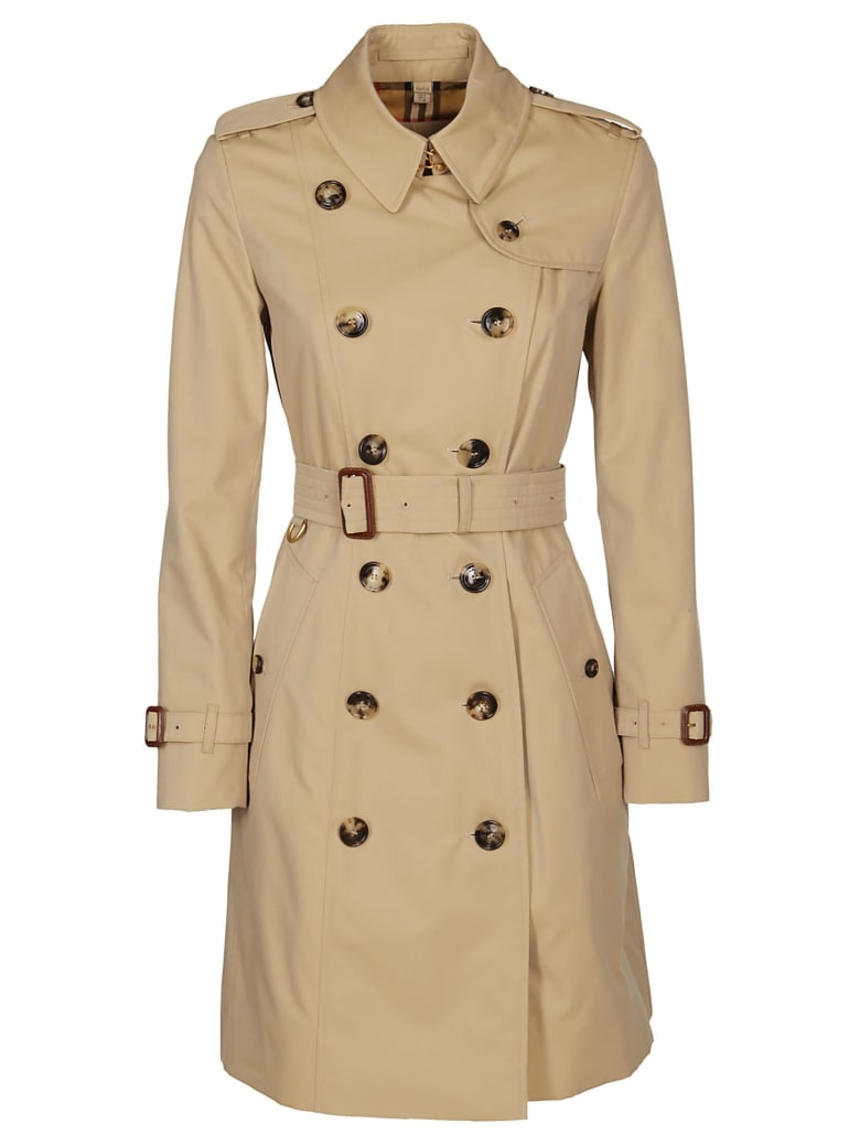 Burberry Flared Trench Coat - Beige