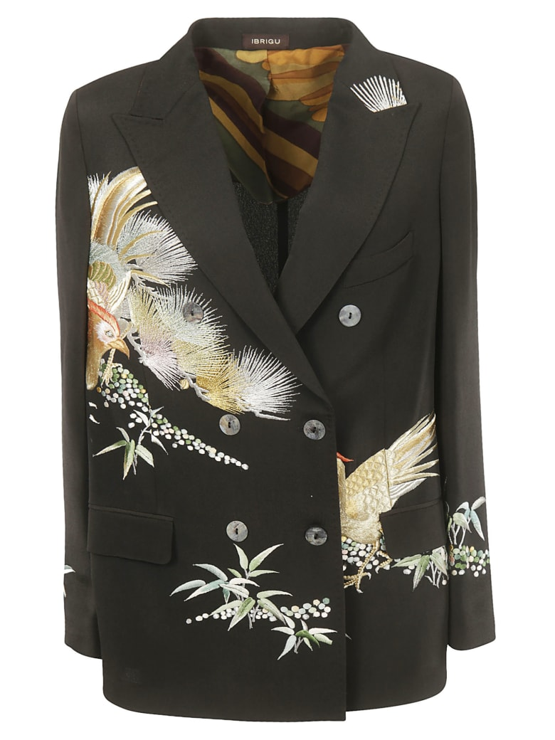 Ibrigu Double Breasted Blazer - Multicolor